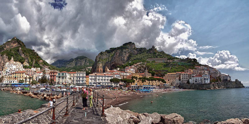 The town of Amalfi. (Photo by Christopher Chen)