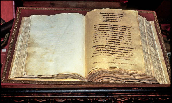 The Codice Foscariniano containing the Tavola Amalfitane, the world's first international marritime code. (Photo courtesy of the museum)
