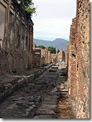 A street in old Pompeii