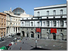The Teatro San Carlo opera house in Naples