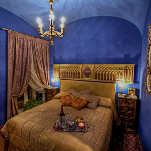 A room at the Hotel Campo de Fiori in Rome