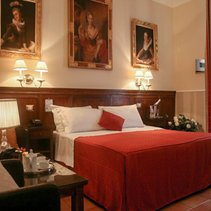 A triple room at Hotel des Artistes in Rome, Italy