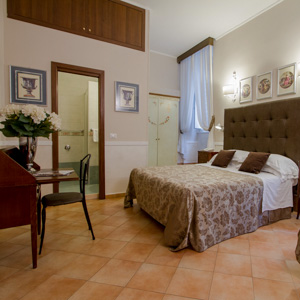 A room at the Hotel Navona, Rome