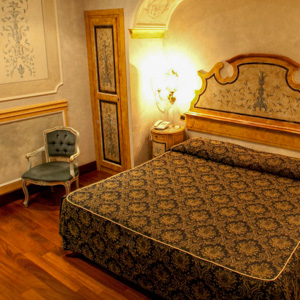 A room at the Hotel Villa San Pio in Rome, Italy