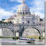 Batelli di Roma river cruise in front of St. Peter's
