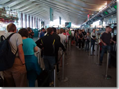 Use the automated machines to avoid the long ticket lines at Termini rail station.