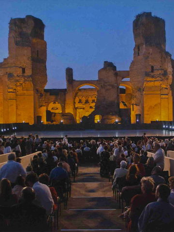 A performance at the Baths of Caracalla