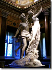 Apollo and Daphne by Gianlorenzo Bernini (1624) in the Borghese Galleries of Rome