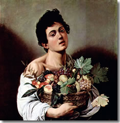 Young Bacchus, Ill (1653) by Caravaggio in the Galleria Borghese of Rome