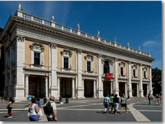 The Palazzo Nuovo wing of the Capitoline Museums in Rome