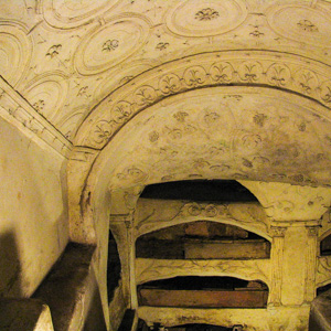 Tomb niches in the Catacombs of St. Sebastian