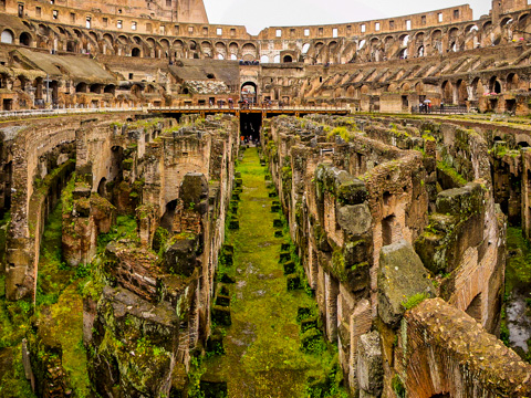 Tour the lower halls of the Colloseum.