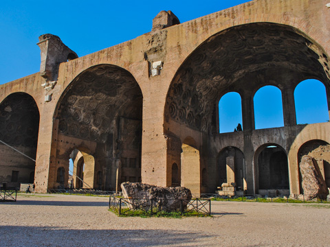 The Basilica of Constantine and Maxentius in the Roman Forum, Rome