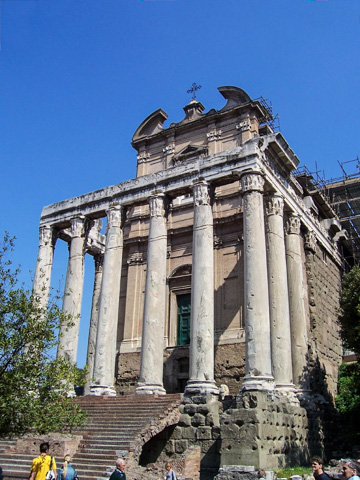 The Temple of Antonius & Faustina in the Roman Fourm
