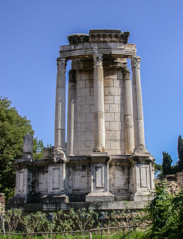 The Temple of Vesta in the Roman Forum
