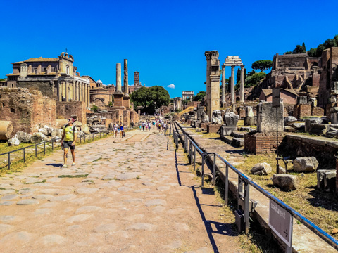 The Via Sacra (Sacred Way) in the Foro Romano of Rome