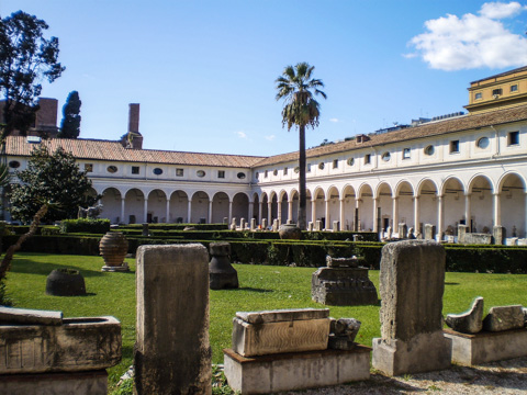 Cloisters of Santa Maria degli Angeli in Rome's Museo Nazionale Romano - Baths of Diocletian complex