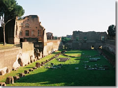 The Domus Severiana, once owned by Septimus Severus, on Rome's Palatine Hill.