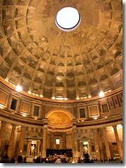 The dome inside the Pantheon