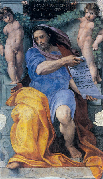 Raphael's The Prophet Isaiah (1511-12), in the Church of Sant'Agostino in Rome