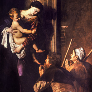 Caravaggio in the church of Sant'Agostino