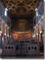 The interior of the Upper Church at Rome's San Clemente.