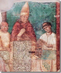 Giotto's Boniface VIII Proclaiming Rome's first Giubileo in 1300 in San Giovanni in Laterano a Roma