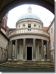 Bramante's Tempietto in the Gianicolo church of San Pietro in Montorio.
