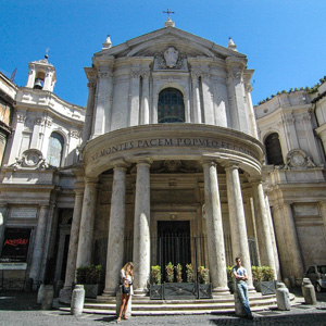 The facade of Santa Maria della Pace