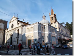 The church of Santa Maria del Popolo in Rome