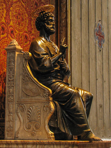 Arnolfo di Cambio's 13th century statue of St. Peter in St. Peter's in Rome