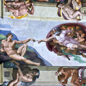 The Sistine Chapel ceiling in the Vatican Museums
