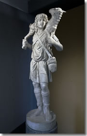 The first statue of Jesus: a 3rd century Good Shepherd in the Vatican's Pio Cristiano Museum