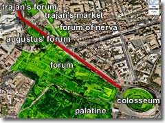 Map of Forum and Imperial Fori
