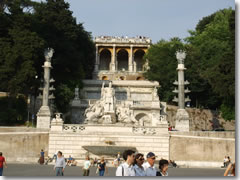 The terraces up to Villa Borghese's Pinco Gardens above Piazza del Popolo.