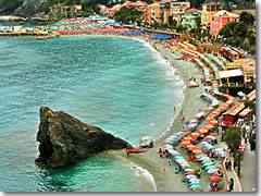 Monterosso al mare home to the only sandy beach in the cinque terre