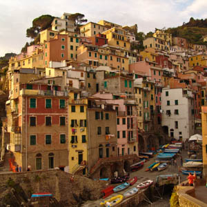 Vernazza, one of the Cinque Terre towns in Liguria, Italy