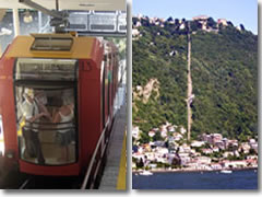 The Brunate funicular above Como