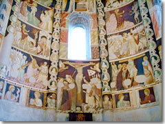 Frescoes in the apse of the Basilica di San'Abbondio, Como