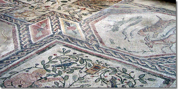 Mosaics in the Villa Romana in Desenzano del Garda, Lake Garda