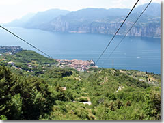 View of Malcesine from the cable car up Monte Baldo