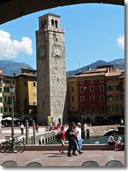 Piazza 3 Novembre and the Torre Apponale, Riva del Garda, Lake Garda