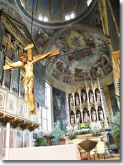 The altar of the Duomo of Santa Maria Annunciata in Salo, Lake Garda
