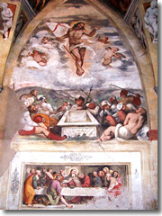 Frescoes my Romanino in the chruch of Santa Maria della Neve, Pisogne, Lake Iseo