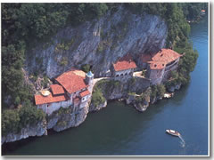 Santa Caterina del Sasso from above.