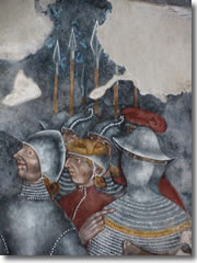 A fresco detail of the Sala Capitolare in Santa Caterina del Sasso