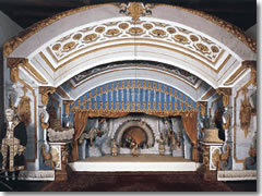 The puppet theatre stage in the Villa Borommeo on Isola Madre