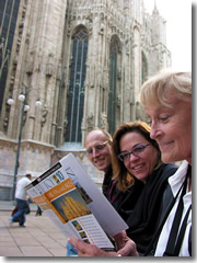Tourists checking out the Cathedral in Milan