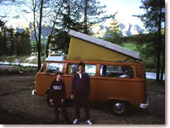 The author (aged 12) and his favorite uncle (aged 19) camping in the Italian Dolimites.