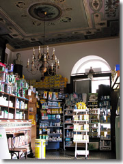 Pharmacies in Italy often have been around for hundreds of years—and some look it, with gorgeous frescoed ceilings and antique wood-and-glass cabinetry.